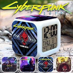 """Настольные часы Киберпанк 2077 """"Samurai-2"""" / Cyberpunk 2077"""
