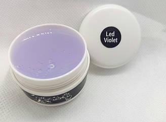 Строительный гель для наращивания ногтей Led violet (прозразный) ТМ CityNail