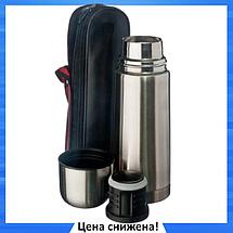 Термос металлический UNIQUE UN-1003 0,75 л с чехлом, питьевой термос, фото 2