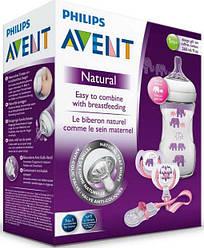 """Подарунковий набір """"Слоник"""", для дівчинки Natural - Philips Avent"""