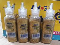 Клей -краска блестками Amos Classic 22ml Золото GCL22D24Gold уп24, фото 1