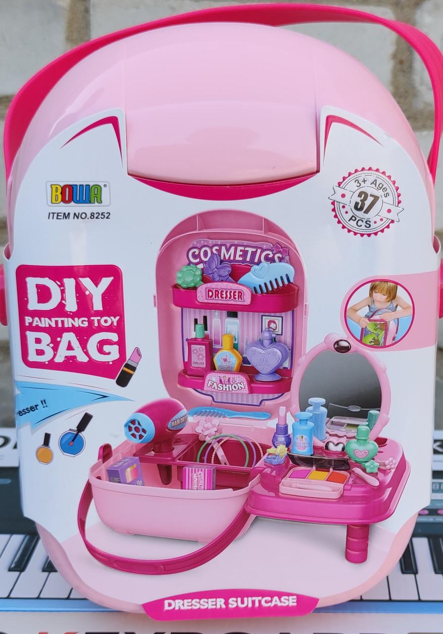 фото набора детского декоративной косметики в чемоданчике Beauty DIY вид с переди