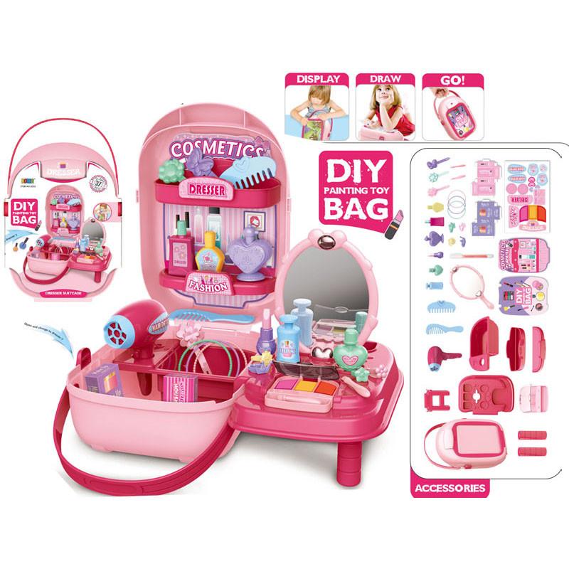 Набор детской декоративной игрушечной косметики для девочек чемоданчик муляж Suitcase Set 37в1