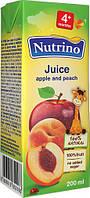 Сок детский Nutrino яблоко персик 4м 200г Сербия 1040030