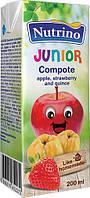 Сок-морс детский Nutrino яблоко клубника айва 4м 200г Сербия 1040033