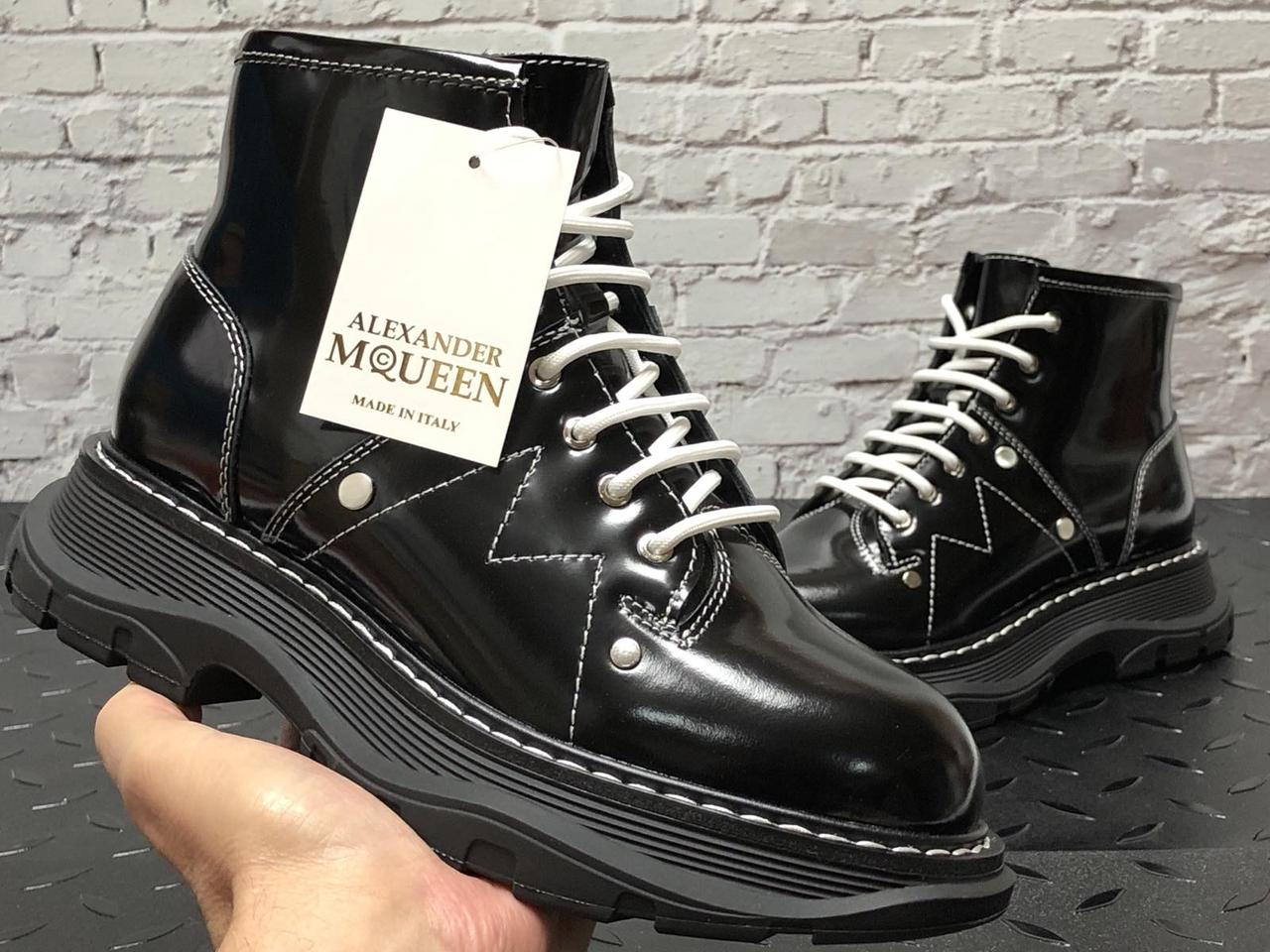 Женские зимние Ботинки Alexander McQueen Boots