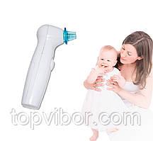 Аспиратор для носа Sniffing Equipment, 7 насадок (4 - голубые), соплеотсос детский (аспіратор назальний)