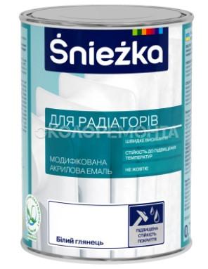 Фарба Sniezka ДЛЯ РАДІАТОРІВ білий глян. 0,75