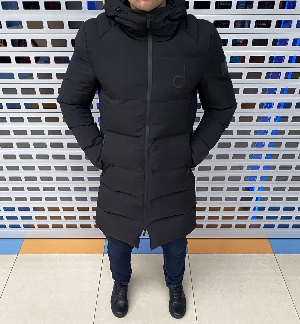 Мужская зимняя куртка Calvin Klein H1103 черная