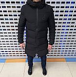 Мужская зимняя куртка Calvin Klein H1103 черная, фото 4