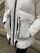 Білий ошатні пуховик Tarun Y019-828-BHB003, фото 4