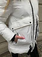 Білий ошатні пуховик Tarun Y019-828-BHB003, фото 6