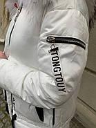 Білий ошатні пуховик Tarun Y019-828-BHB003, фото 5