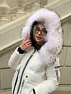 Білий ошатні пуховик Tarun Y019-828-BHB003, фото 2