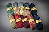 Пряжа полушерстяная Vivchari Colored Boucle Wool, Color No.902 беж букле + оливка, фото 2