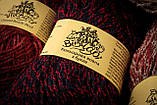 Пряжа полушерстяная Vivchari Colored Boucle Wool, Color No.903 беж букле + зеленый, фото 3
