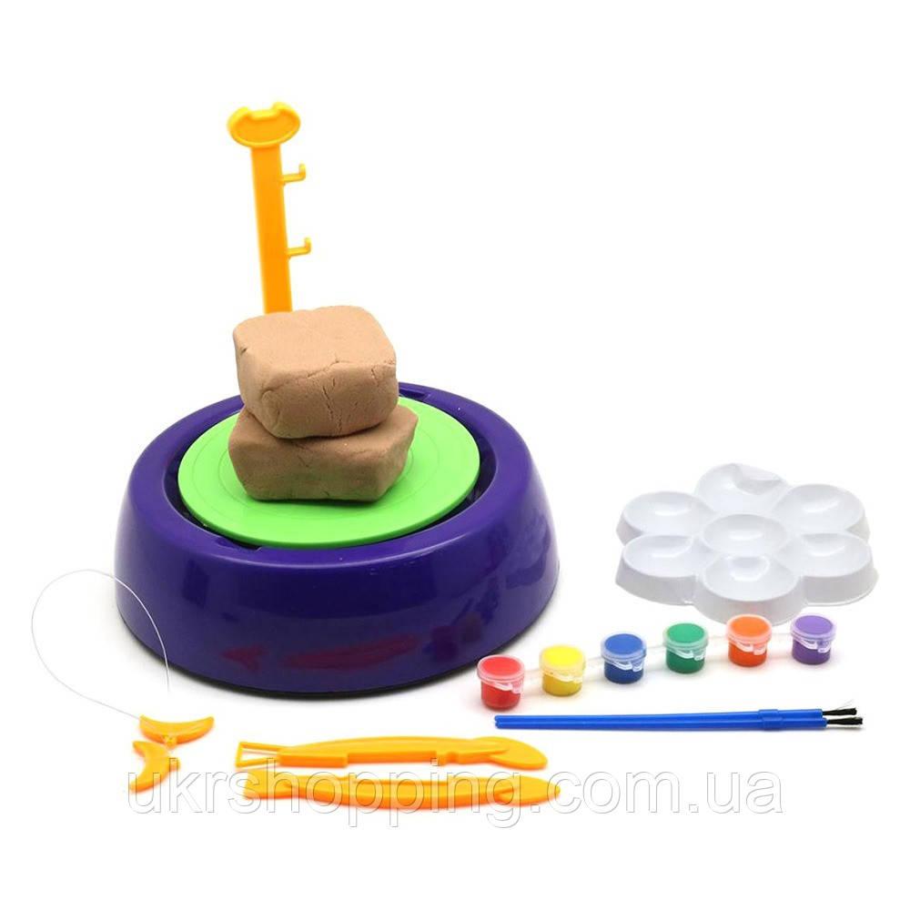 Гончарный круг - детский набор для творчества Pottery Wheel фиолетовый | набір для творчості (SH)