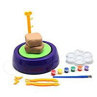 Гончарний круг - дитячий набір для творчості Pottery Wheel фіолетовий   набір для творчості, фото 1