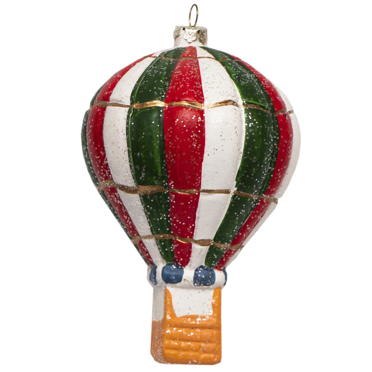 Елочная игрушка Воздушный шар пластиковый 12, 5 см. (190262)