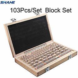 Концевые меры длины Shahe Block-103 05-100мм/0 класс точности - 103 шт. С сертификатом о калибровке (mdr_7092)