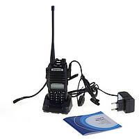Рація, радіостанція Baofeng UV-82 HP 8 Вт + Гарнітура На 2 Кнопки! Рація Baofeng UV-82 8 W