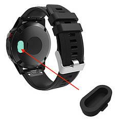 Заглушка силиконовая для умных часов Garmin Fenix 5/5S/5X Plus/6/6S/6X Pro, Черный