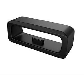 Кольцо силиконовое для умных часов Garmin Fenix 6X/6X Pro/5X/5X Plus/3/3HR, ширина 26мм, Черный