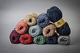 Пряжа полушерстяная Vivchari Colored Boucle Wool, Color No.911 синий букле + темно-синий, фото 4