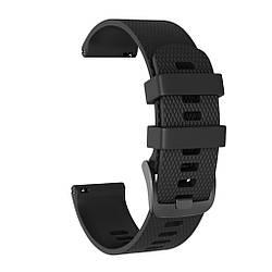 Ремешок для умных часов Garmin Forerunner 245/245M, ширина ремешка 20мм, Черный