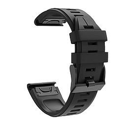 Ремешок для умных часов Garmin Fenix 6X/6X Pro/5X/5X Plus/3/3HR, ширина ремешка 26мм, Черный