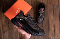 Кожаные мужские демисезонные кроссовки NIKE AIR (реплика)