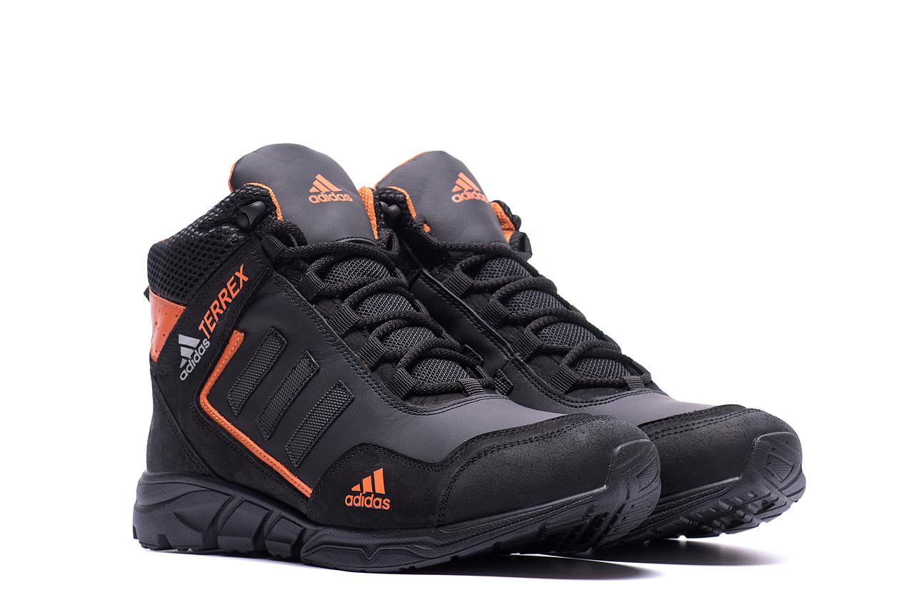 Высокие зимние мужские ботинки кожа Adidas TERREX  (реплика)