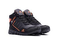 Высокие зимние мужские ботинки кожа Adidas TERREX  (реплика), фото 1