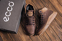 Кожаные мужские сапоги коричневого цвета, фото 1