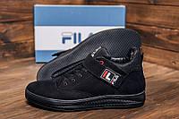 Классические мужские кеды черного цвет зимние, зимние ботинки