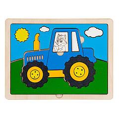 Пазл в рамке: Трактор