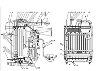 Группа 13. Система охлаждения Подгруппа 1301. Блок охлаждения (для тракторов «Беларсус-82.1/82.3/820)