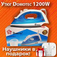 Паровой тефлоновый утюг для дома Domotec MS-2208 1200W
