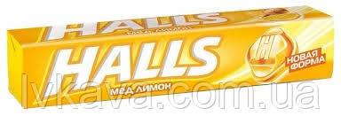Леденцы  Halls со вкусом меда и лимона , 25,2  гр