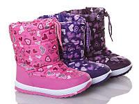Зимові дитячі дутики для дівчинки Libang р25-27(код 9602-00)