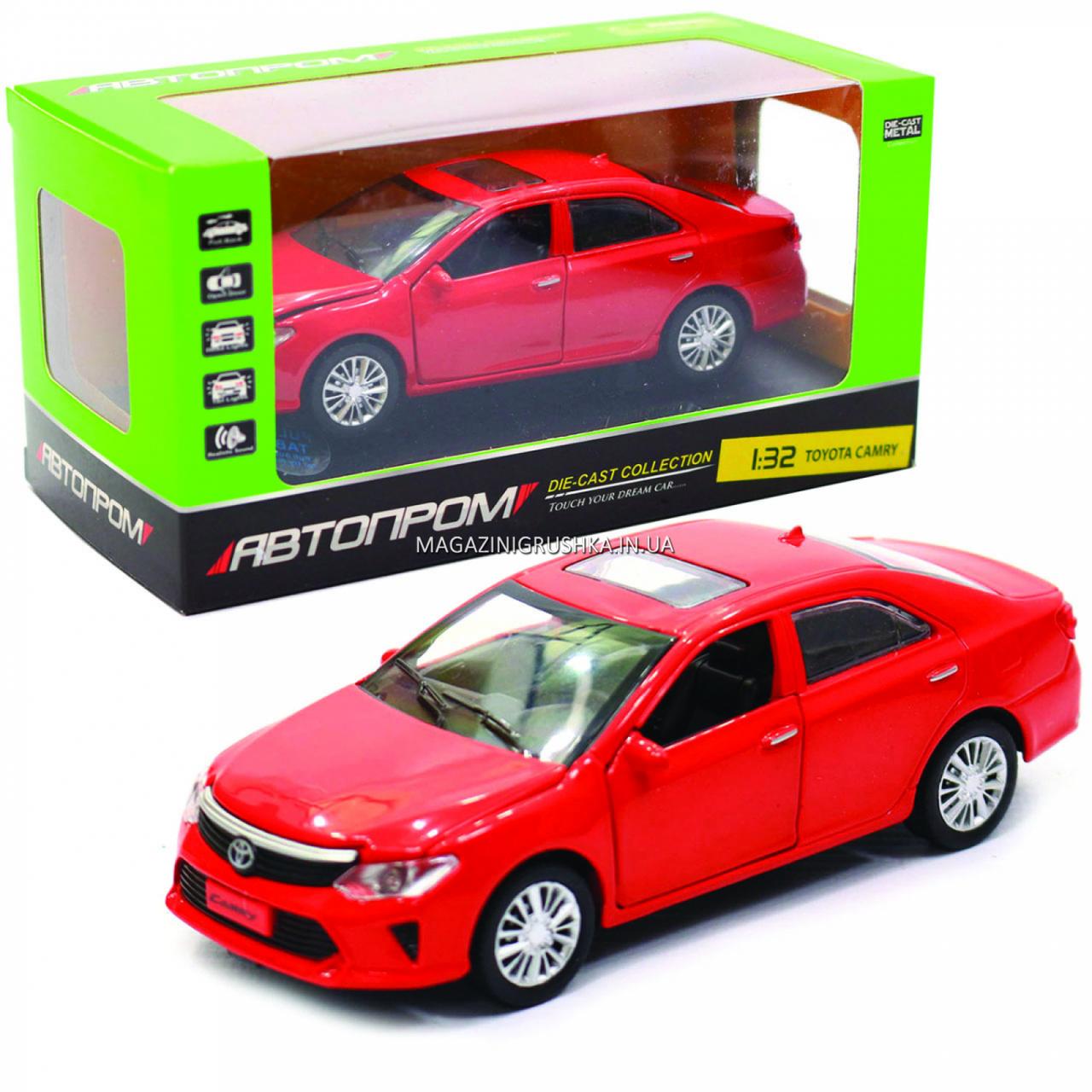 Машинка ігрова автопром «Toyota Camry» Тойота, червона, метал, 14 см, (світло, звук, двері відкриваються) 7814