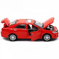 Машинка ігрова автопром «Toyota Camry» Тойота, червона, метал, 14 см, (світло, звук, двері відкриваються) 7814, фото 8