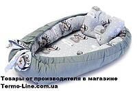 Кокон гнездышко для новорожденных Мишка Серый, фото 1