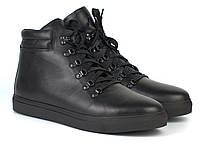Ботинки мужские зимние черны кожаные на меху на молнии обувь на широкую стопу Rosso Avangard Ranger SL Black L, фото 1
