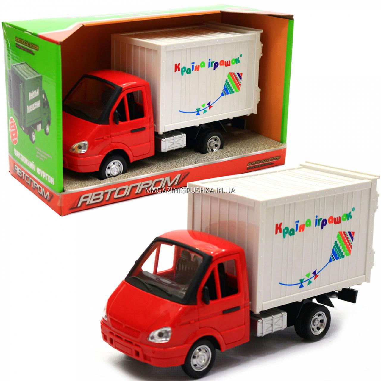 Іграшкова Машинка автопром «Вантажівка. Країна іграшок» (світло, звук, пластик), 20х7х11 см (7660-6)