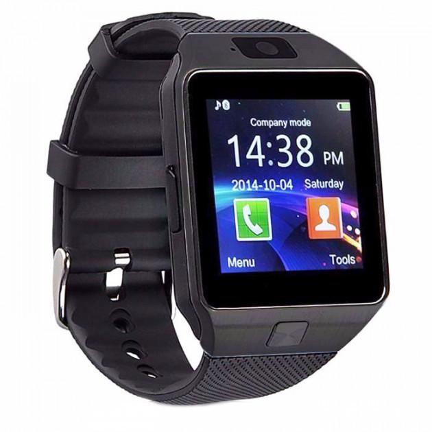 Взрослые смарт-часы с шагомером Smart Watch DZ09, умные Bluetooth часы с пульсометром для спорта черные