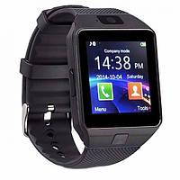 Взрослые смарт-часы с шагомером Smart Watch DZ09, умные Bluetooth часы с пульсометром для спорта черные, фото 1
