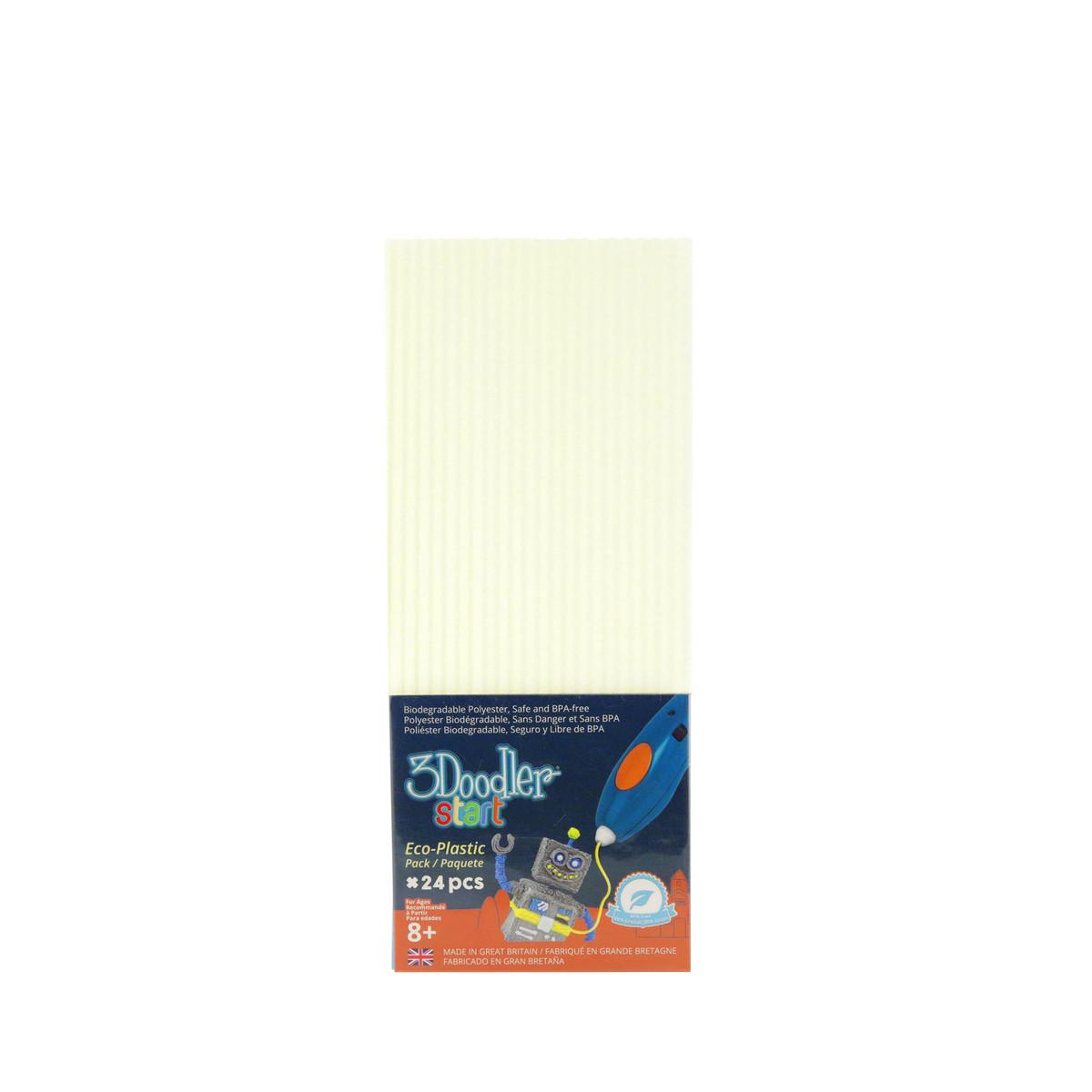 Набор Стержней Для 3D-Ручки -Светящийся в темноте 3Doodler Start 3DS-ECO09-GLOW-24