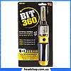 Отвертка револьвер Bit 360 - Универсальная вращающаяся отвертка со сменными насадками 6 в 1, отвертка с битами, фото 4