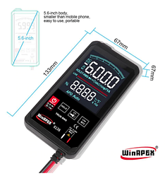 Цифровий мультиметр з сенсорним екраном Winapex ET8136